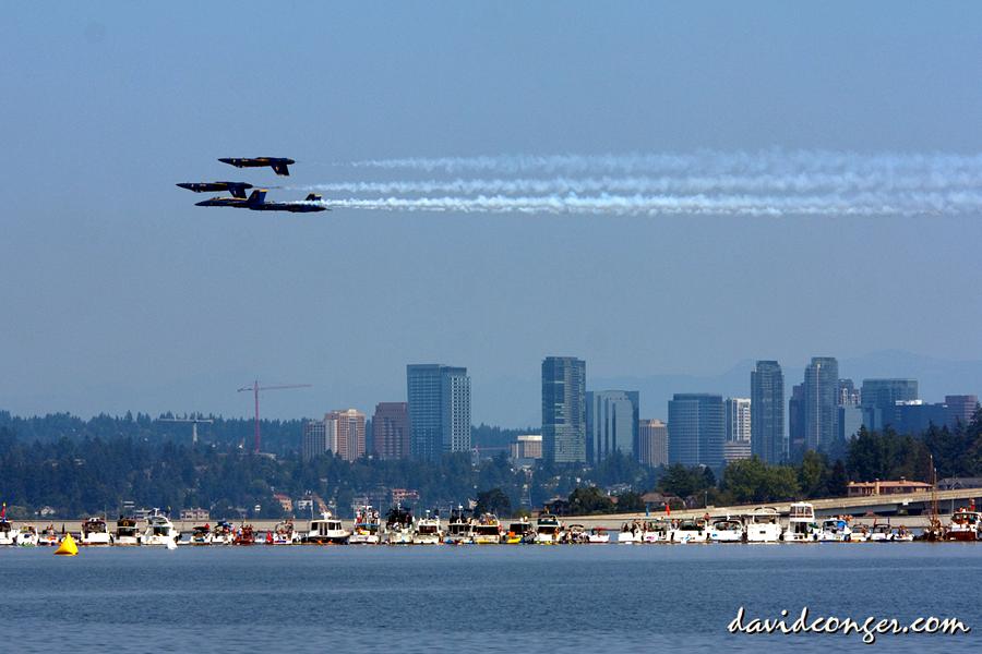 US Navy Blue Angels at Seafair   Photo © David Conger