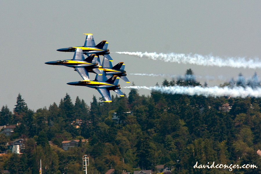 US Navy Blue Angels at Seafair | Photo © David Conger