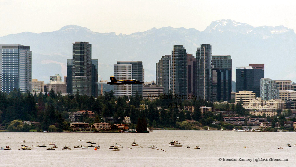 US Navy Blue Angels at Seafair | Photo © Brendan Ramsey