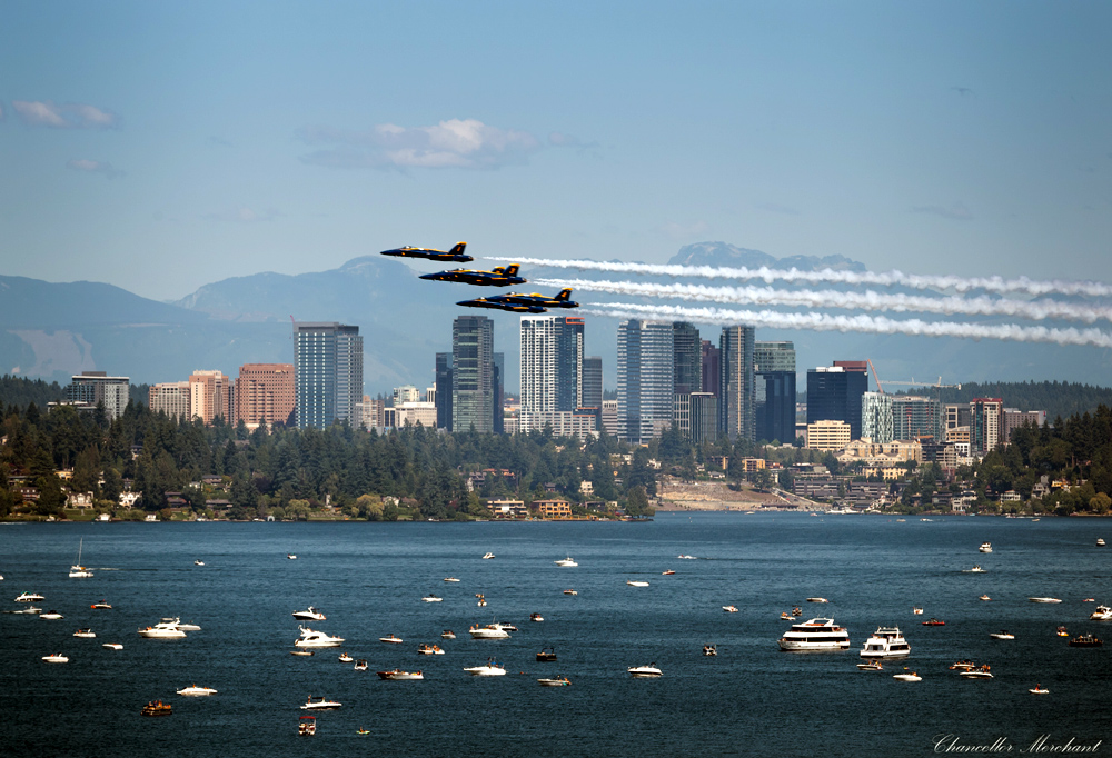 US Navy Blue Angels at Seafair | Photo © Chance Merchant